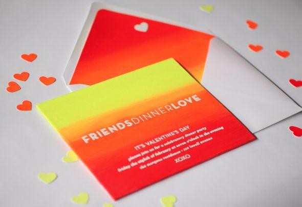 Neon Inspiration: Valentine's Day Dinner Party Invite