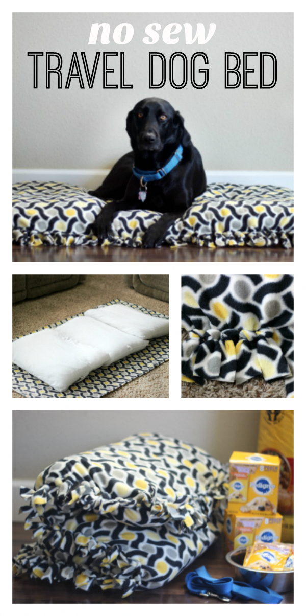 No Sew (Washable) Travel Dog Bed Gluesticks