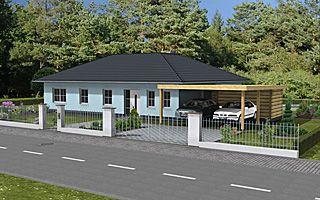 Winkelbungalow 130 17 Carport Einfamilienhaus Neubau