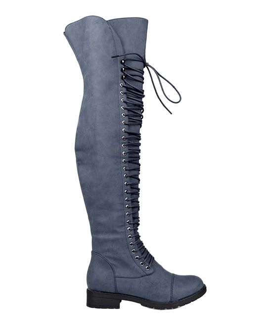 Navy Lace-Up Travis Boot