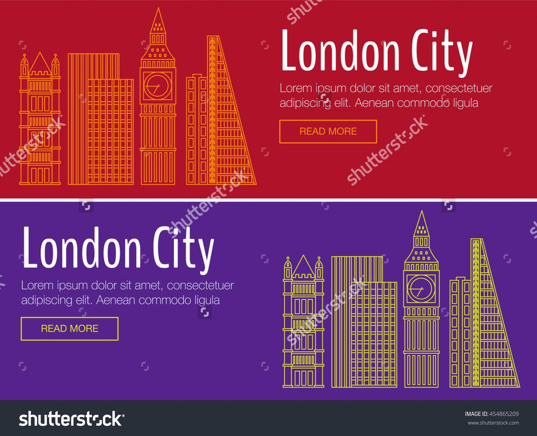 vector template banner for website header advertisement vector flat city for banner. Black Bedroom Furniture Sets. Home Design Ideas