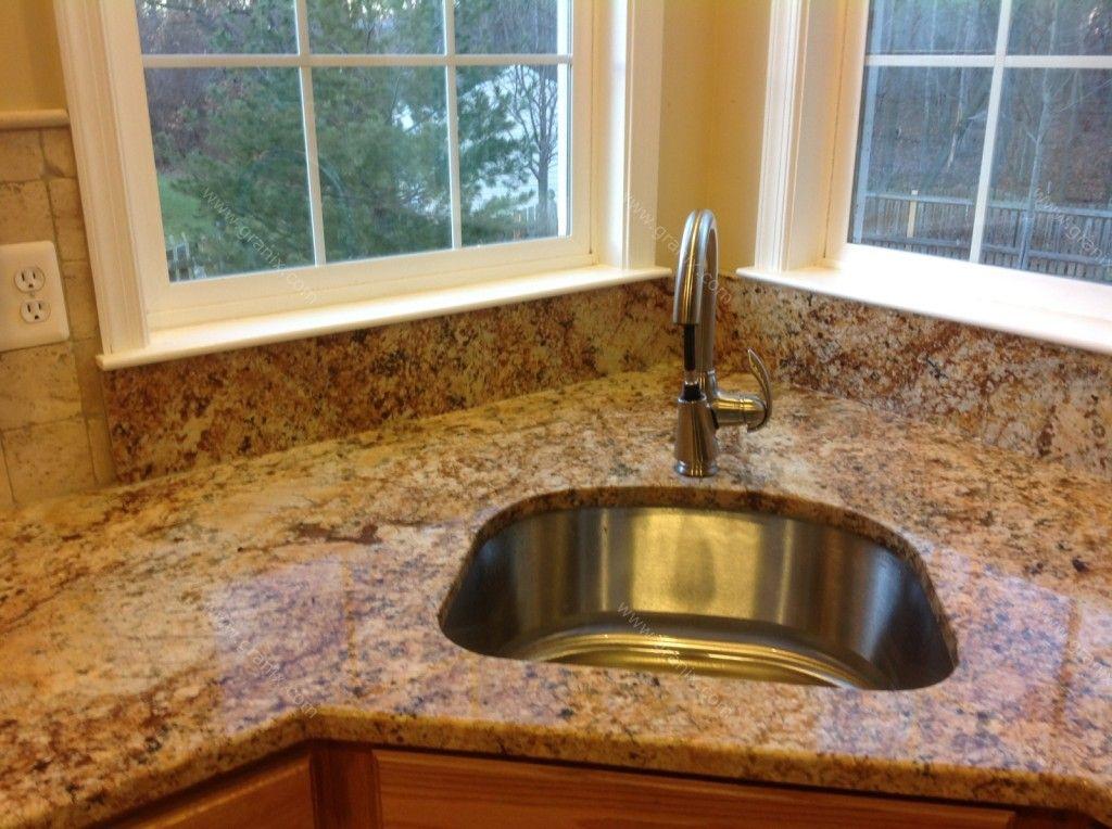 Solarius Granite backsplash and countertop. | Countertop ... on Kitchen Backsplash Backsplash Ideas For Granite Countertops  id=49990