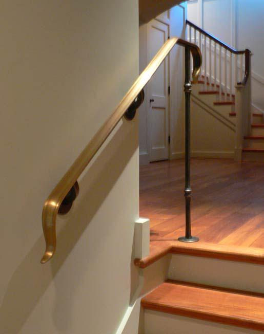 Blacksmith : Custom Designed Stair Railing : Hand Forged Steel And Bronze