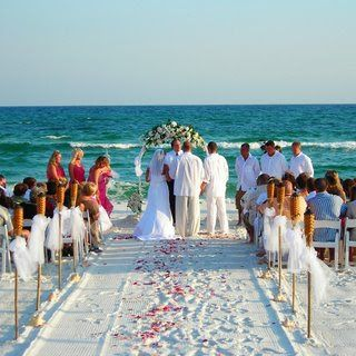 Beach Wedding Use Tiki Torches And Tulle To Frame Your Aisle Very Low