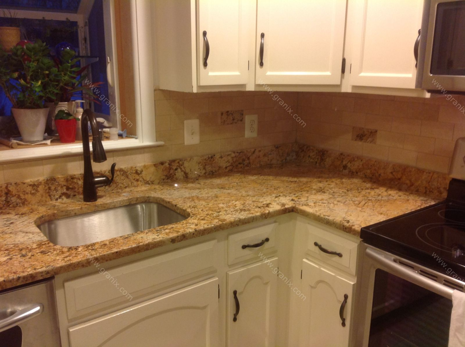 Mac s before after solarius granite countertop Granite kitchen countertops pictures