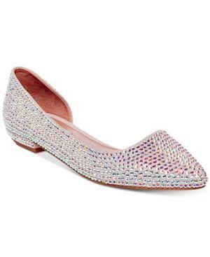 b8038ff946f Steve Madden Women's Estela Embellished Flats - Silver 9M | Products ...
