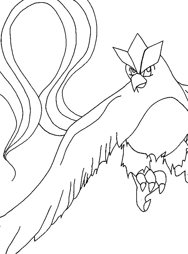 Articuno Pokemon Is Angry Coloring Page Coloring Sun Articuno Pokemon Coloring Pages Pokemon