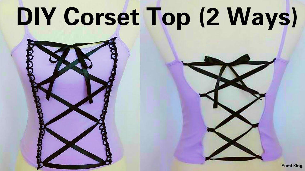Diy corset top 2 ways to transform any top into corset