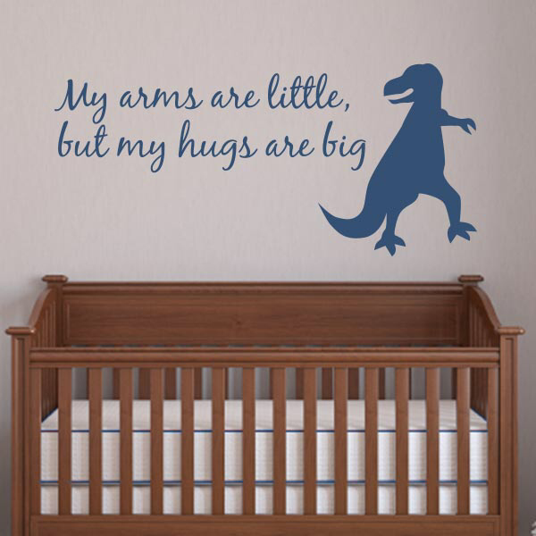 Dinosaur Hugs Wall Decal | Dinosaur Nursery Quotes | Wall Decal World
