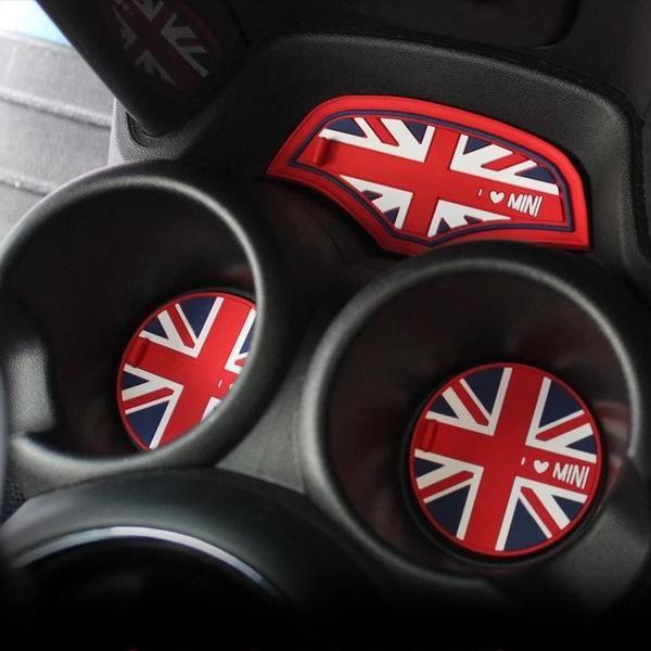 6 Pcs Set Cup Coaster For Mini Cooper F56 2014 Two Doors