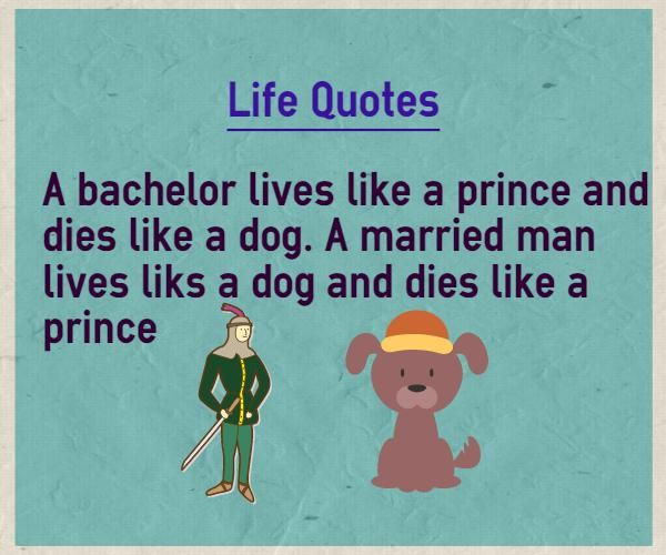 Quotes To Live By With Explanation: Live Life Quotes A Bachelor Lives Like A Prince And Dies
