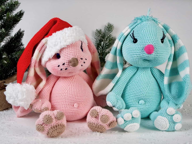 Häkelanleitung Der Weihnachtshase | Feste masche, Sucht und Hase