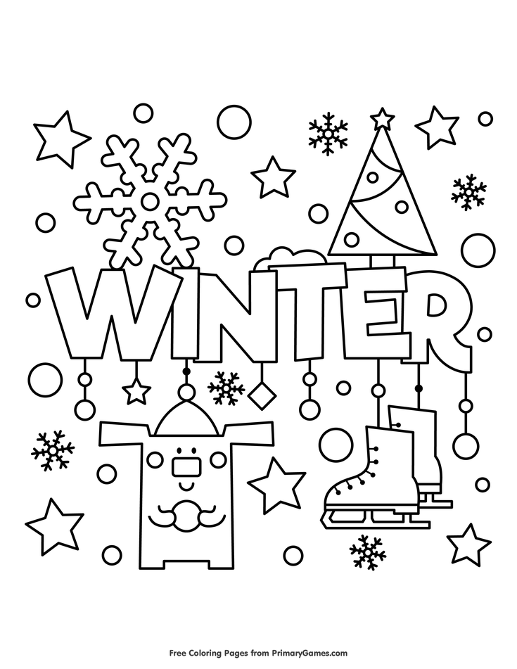 Winter Coloring Page  E  A Free Printable Ebook Coloring Pages