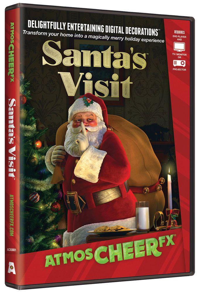 Santa\u0027s Visit DVD AtmosCheerFX Christmas Virtual Window Projection