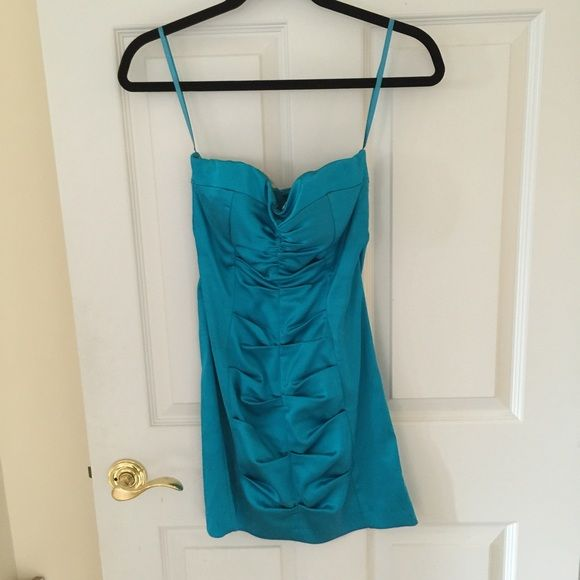 Gorgeons teal cache dress Worn once Cache Dresses Mini