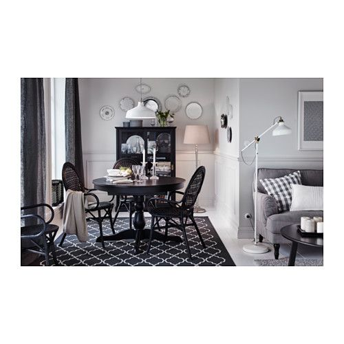 Hovslund Rug Low Pile Ikea Suitable For Use Underneath Your Dining Table As The Flat Woven Surface Makes It Easy To Pull Out Chairs And Clean