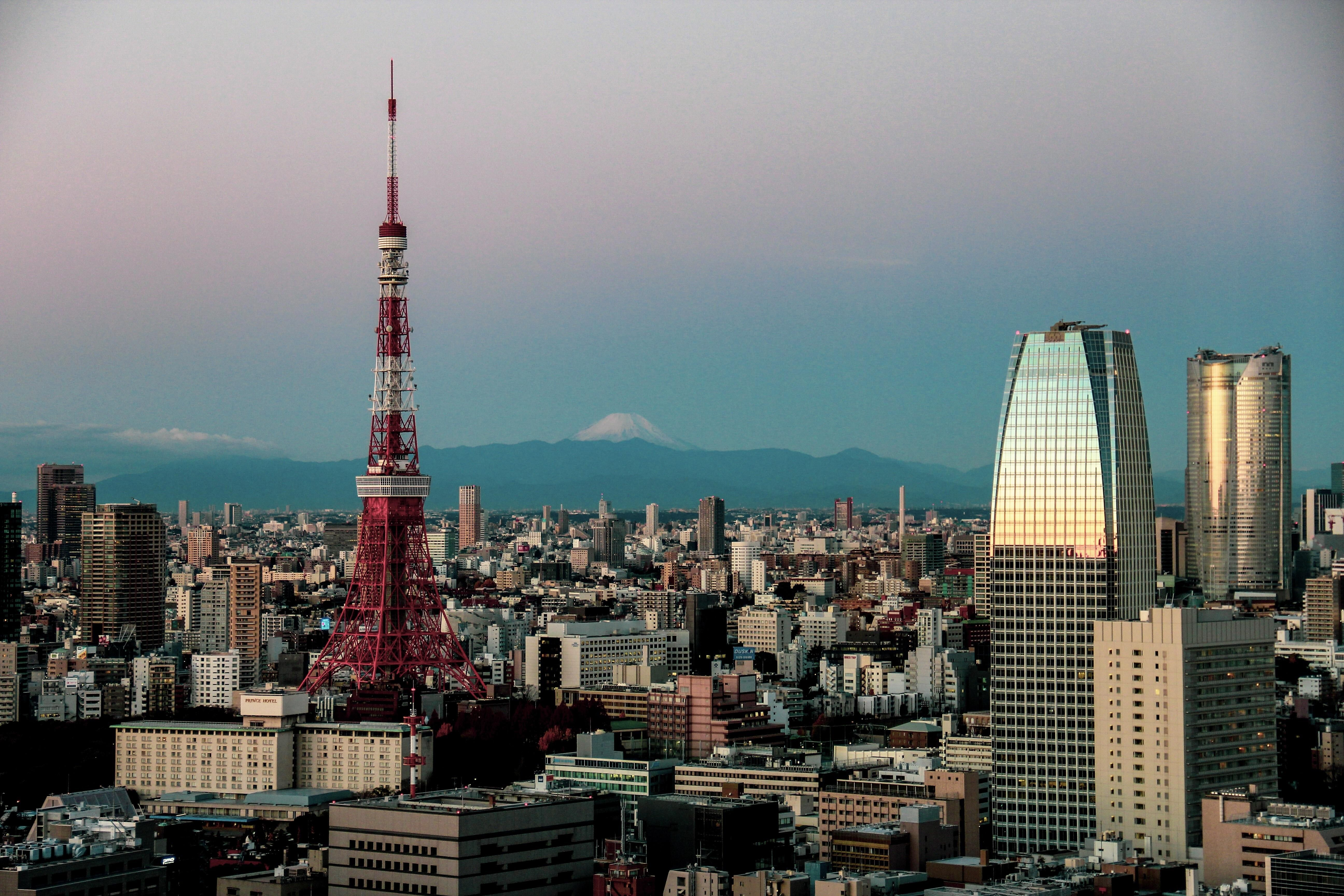 Tokyo Skyline Mt Fuji Oc Tokyo Skyline Skyline Tokyo