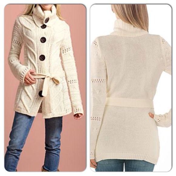 Off White Long Cardigan Sweater Item Description: Long off white ...
