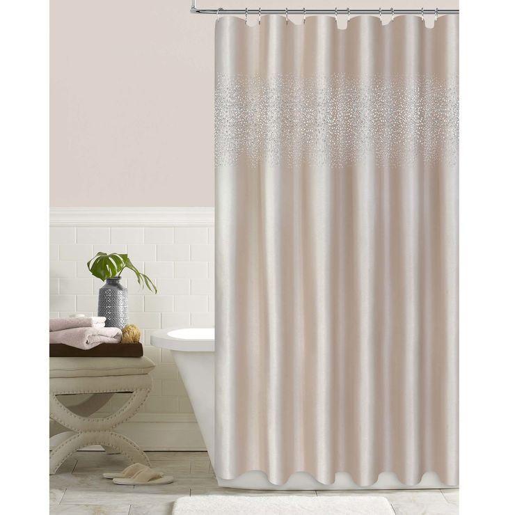 Blush Crystal Stardust Shower Curtain Shower Curtain Curtains