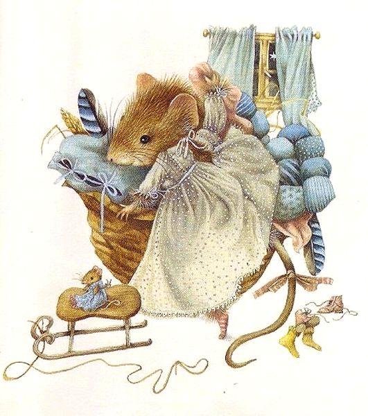 салоне картинки красивых мышек для декупажа половиной