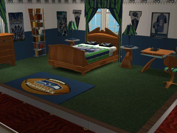 seattle seahawks football rooms   Mod The Sims   Seattle Seahawks Football  Bedroom  requested. seattle seahawks football rooms   Mod The Sims   Seattle Seahawks