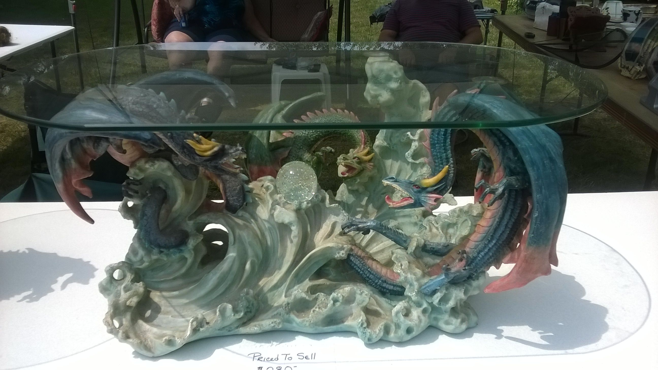 Very unique and collectable dragon table coffee table style