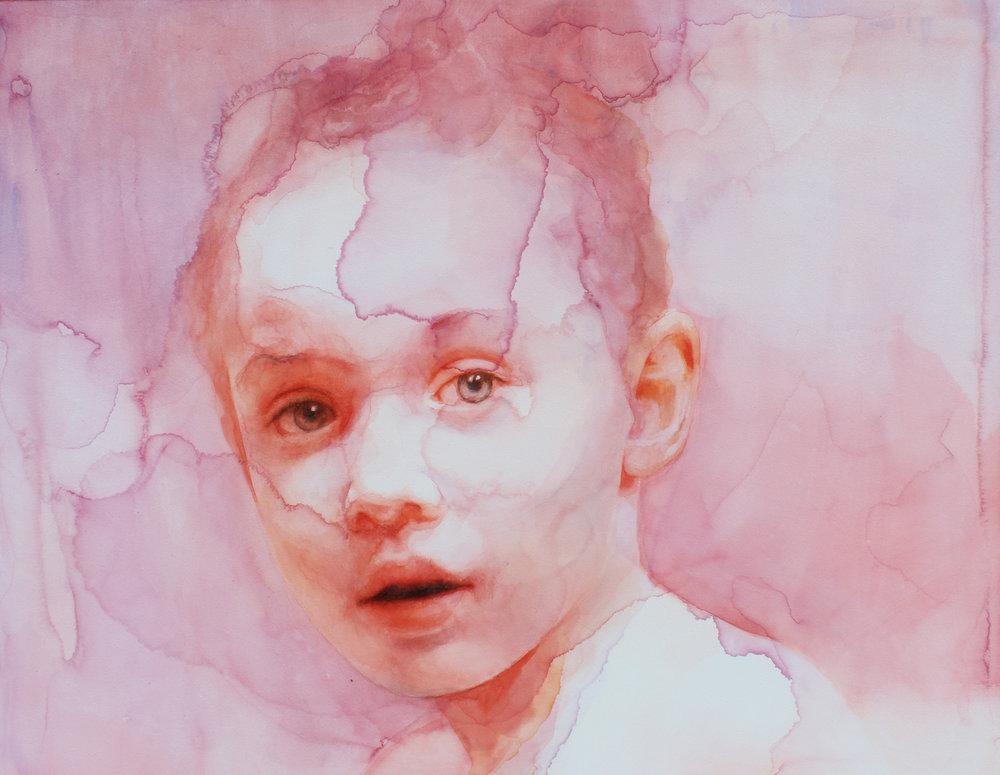 Ali Cavanaugh (watercolor on Aquabord)   Portrait painting