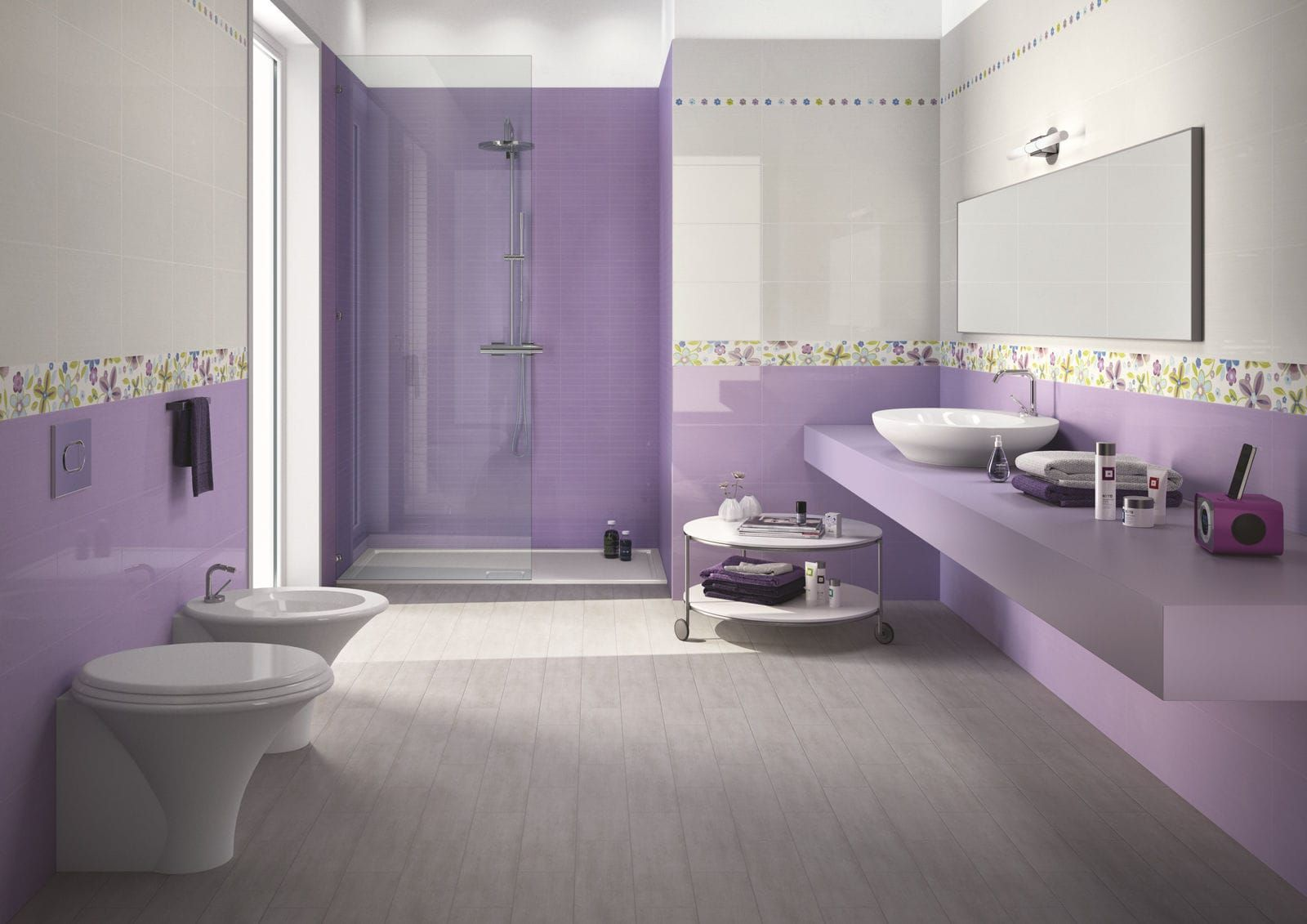 Carrelage de salle de bain mural en c ramique for Carrelage ceramique salle de bain
