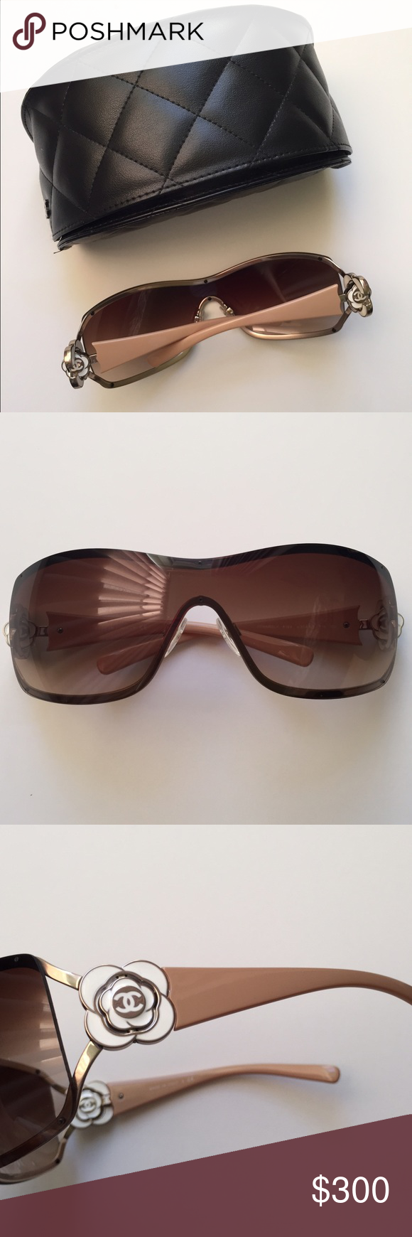 6abab390de34 Authentic Chanel Shield Camellia Sunglasses-new Brand new frame ...