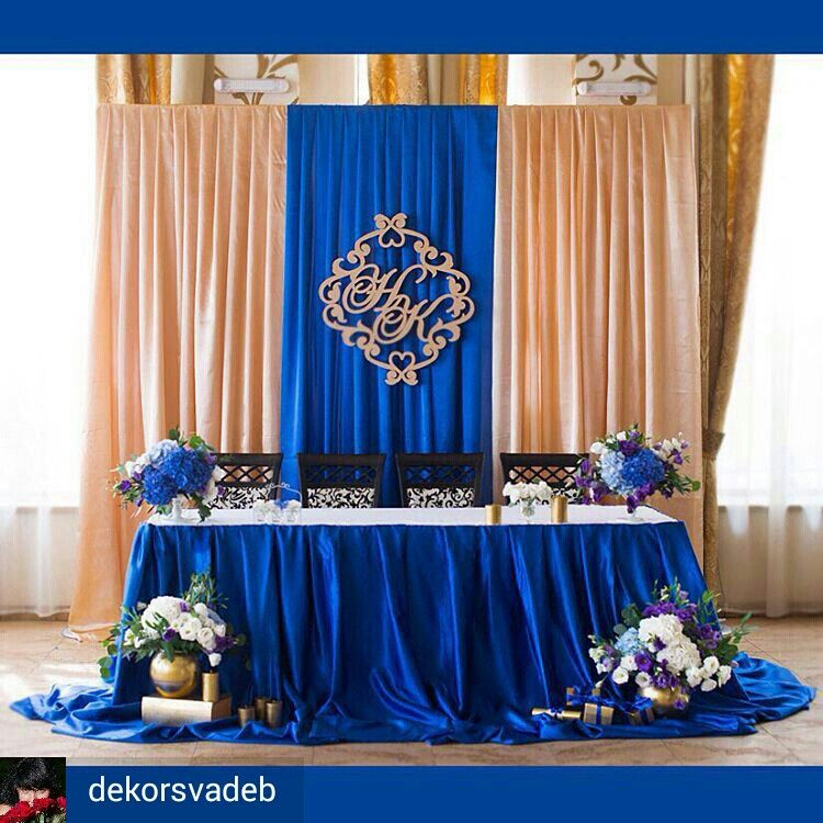 Blue And Gold Wedding Decorations: Pin By Kwesi Charles On Cool Party Ideas & Crafts