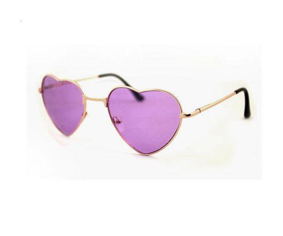 8bf4e0af110 Purple Heart Shaped Sunglasses Purple Sunglasses by Rakunsell ...