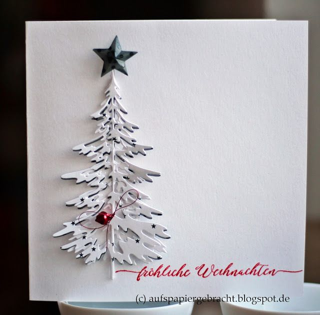 Auf S Papiergebracht Weihnachtsbaum Christmas Cards Handmade Christmas Cards To Make Homemade Christmas Cards
