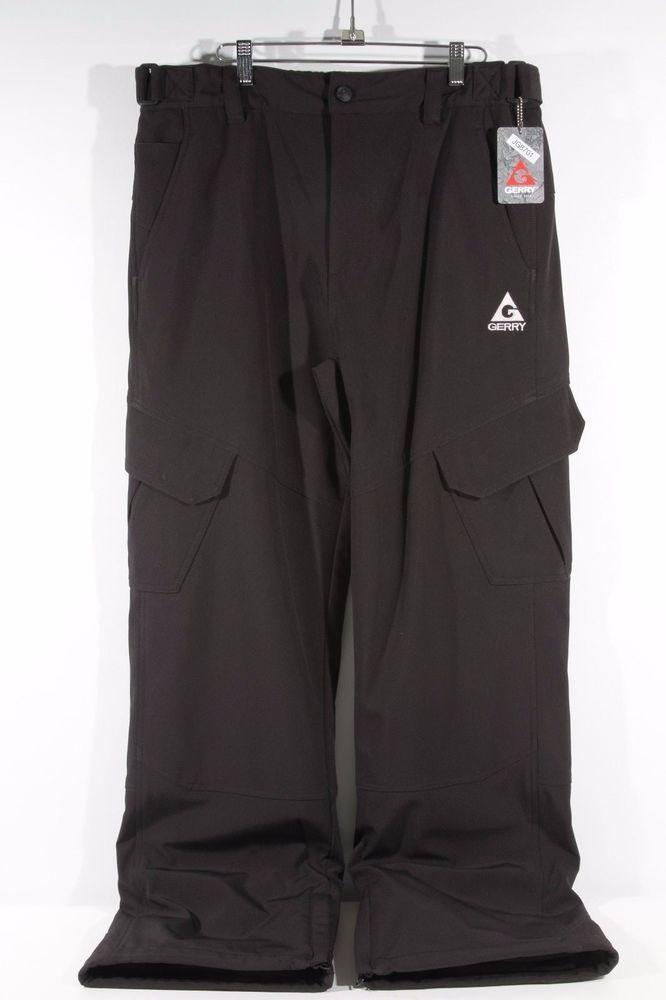 Gerry Men/'s Snow Tech Snow Pants Black-XL-990187-NWT