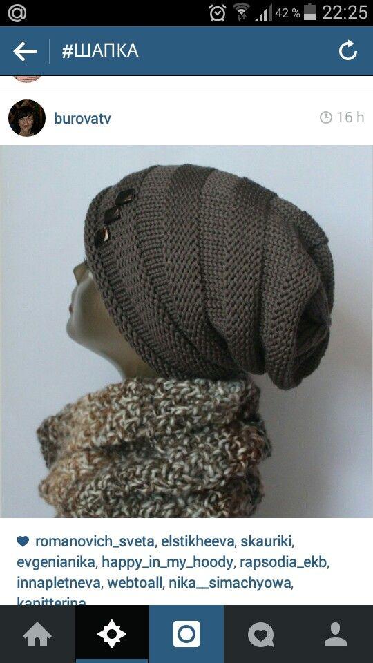 шапка платочной вязкой вязание шапка шарф вязанная шапка