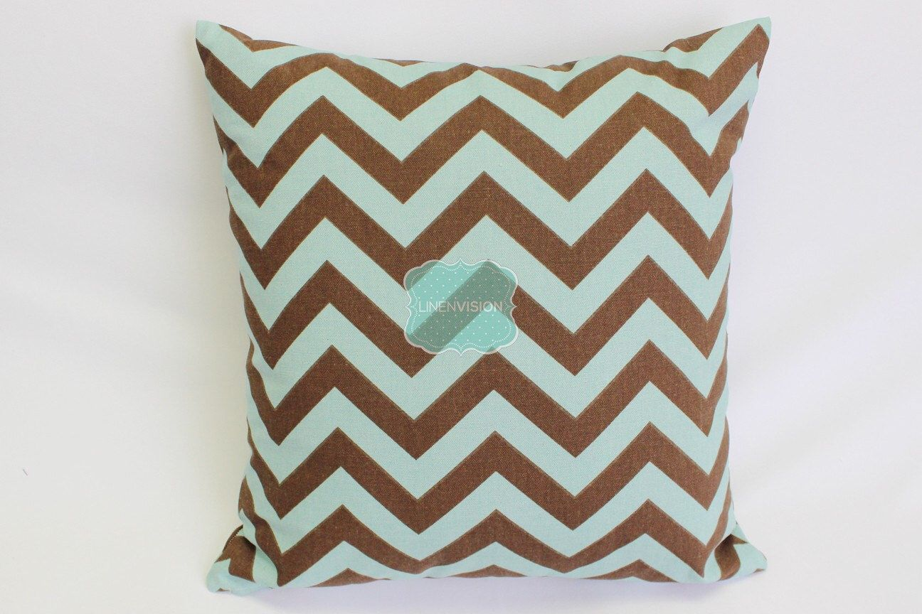 Brown Zig Zag Throw Pillow Cover