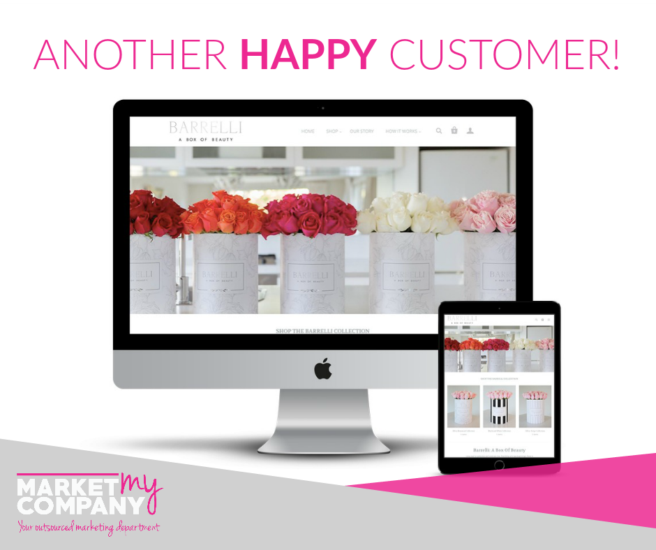 Well Lookie What We Made Hop On Over To Barrelli S Gorgeous New Site To Admire Our Handy Work And Mayb Web Design Marketing Web Design Happy Customers