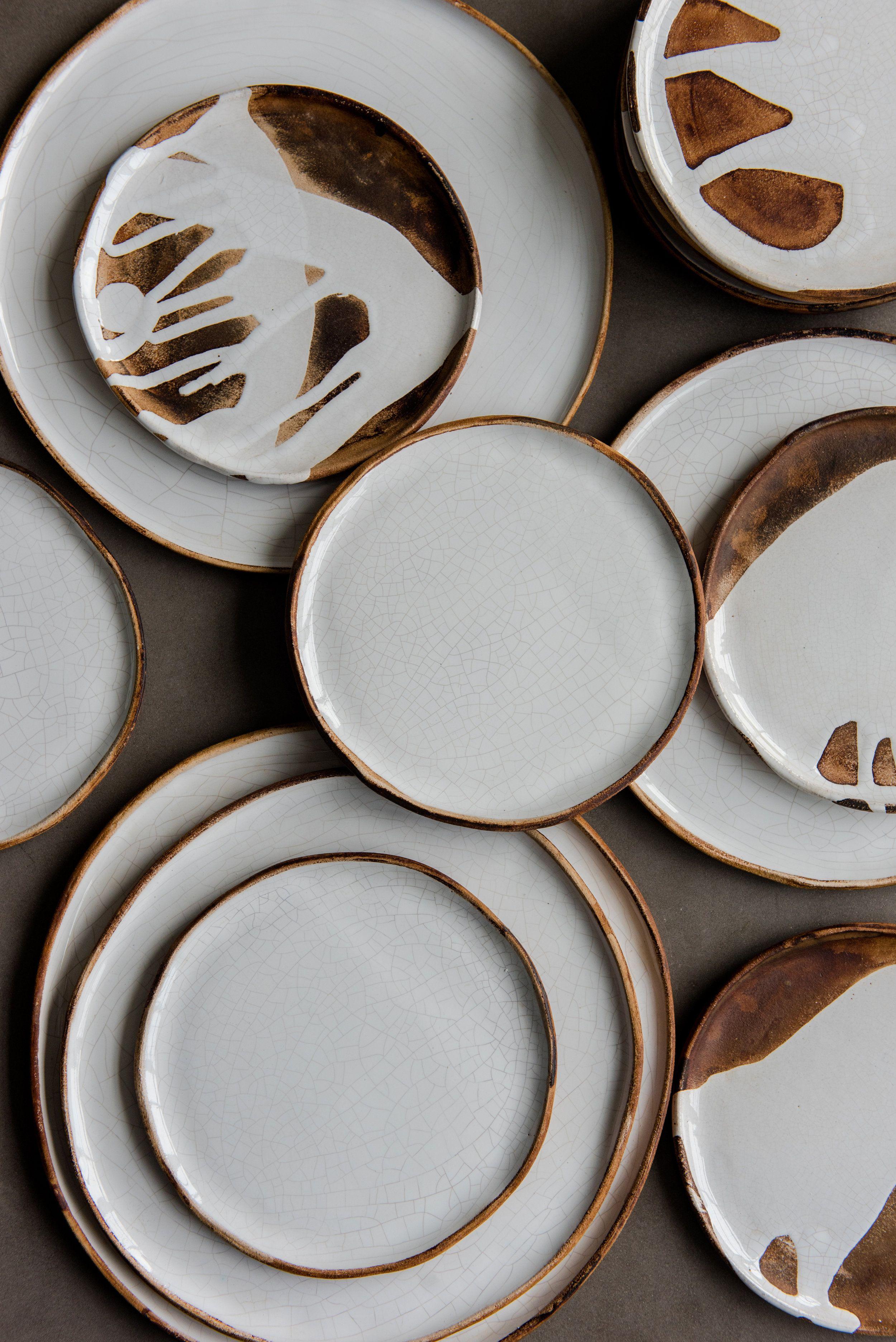Handmade Stoneware Crackle Plates Creating Comfort Lab Stoneware Dinnerware Ceramic Dinnerware Set Rustic Dinnerware