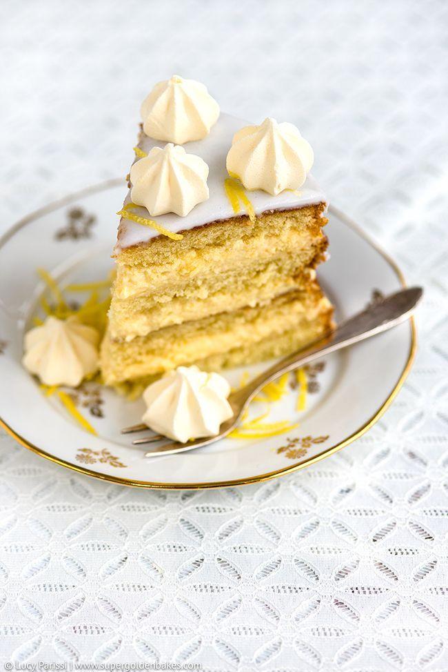 Gin, Passionfruit and Lemon Layer Cake | Supergolden Bakes