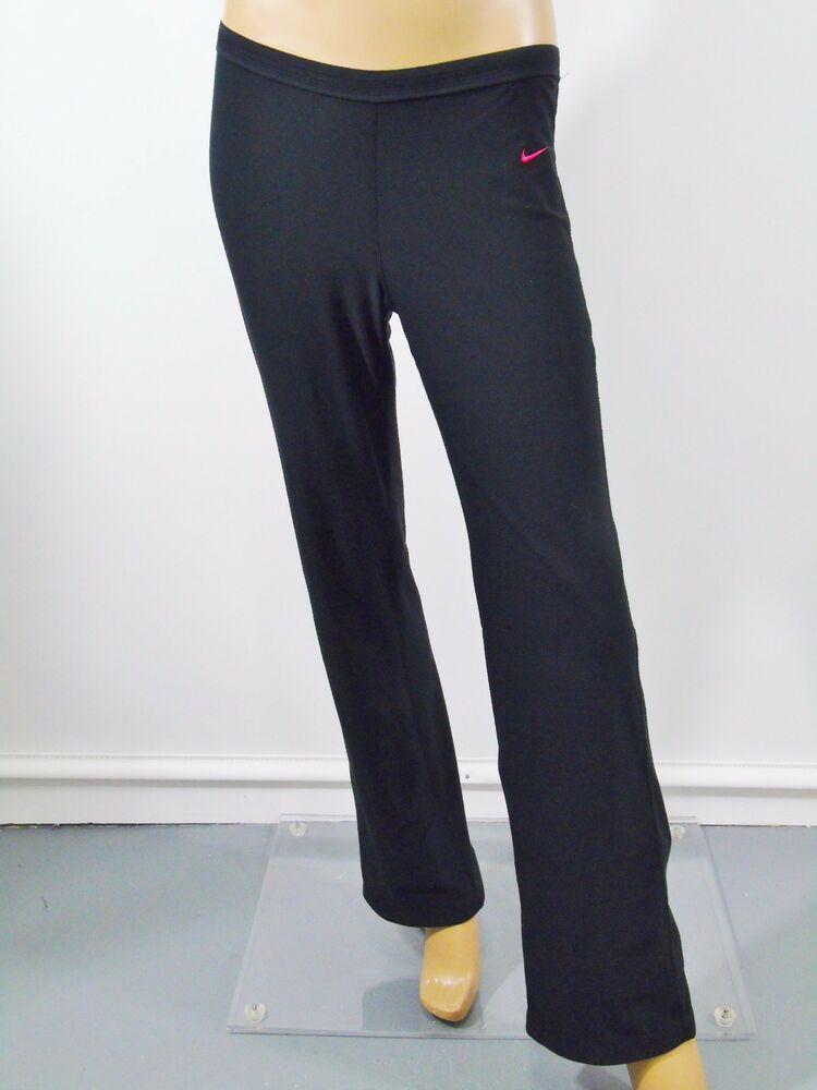56be1eb79d Nike Dri Fit Yoga Pants Active Sports Sz S Straight Leg Knee Ties Black # Nike #PantsTightsLeggings