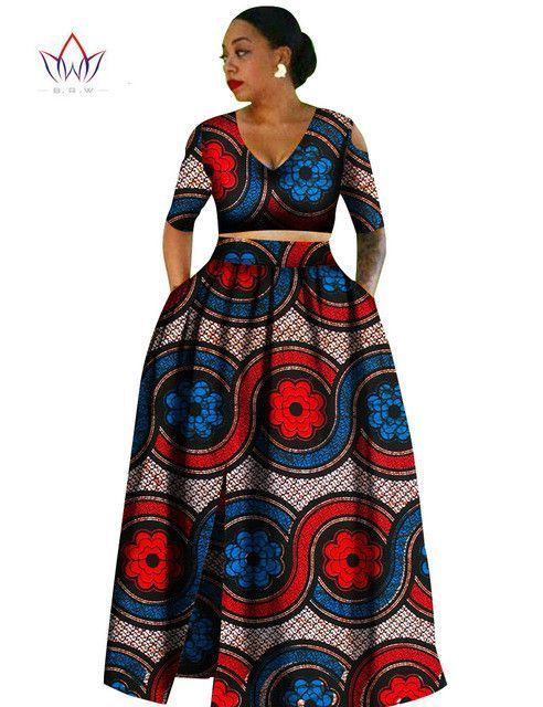 Women African Tradition 2 Piece Plus Size Africa Clothing Fashion