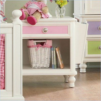 Pulaski Build A Bear Pawsitively Yours Kids Nightstand In Vanilla The Finely Crafted Pawsitively Yours Nightstand Wi Kids Nightstand Girl Nightstand Kid Beds