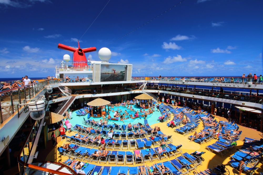 Main Pool Deck On The Lido Deck
