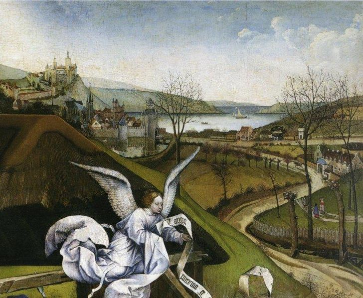 robert campin, nativity (detail)