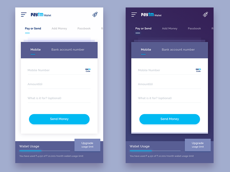 Paytm Wallet | Mobile Apps | App ui design, Mobile app