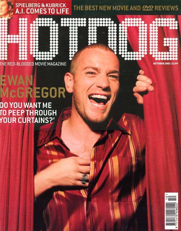Un particolarmente dinamica copertina di Hotdog con Ewan McGregor offre la possibilità per un fotomontaggio maschile informale e la foto sovrassatura