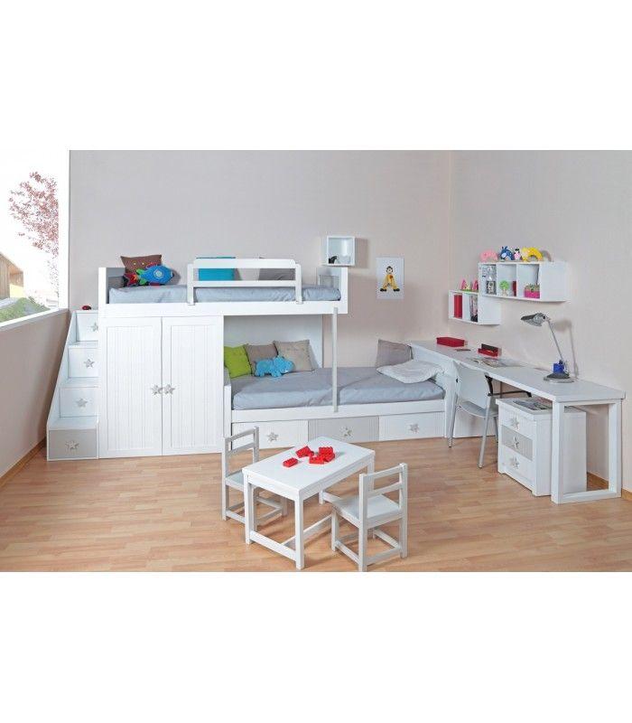 Muebles macizos a medida para dormitorios juveniles e infantiles con mesas estudio zapateros - Estanterias juveniles ...