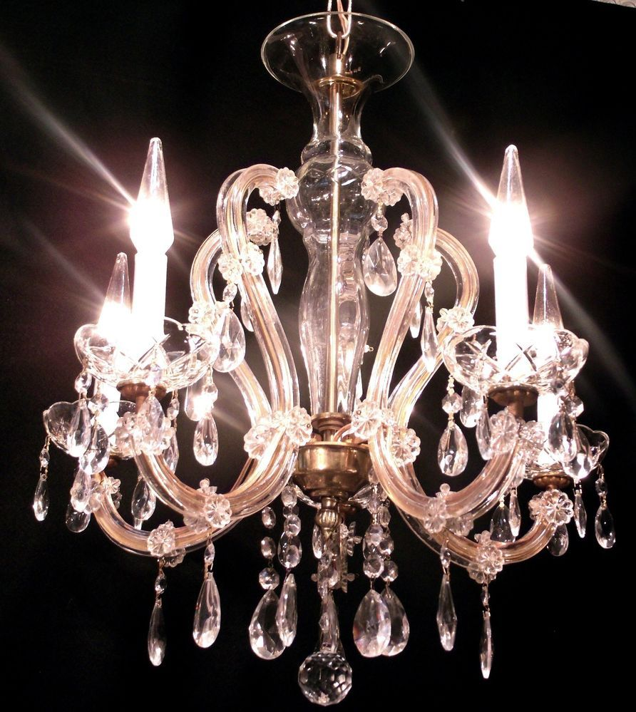 Antique vintage maria theresa crystal chandelier light fixture antique vintage maria theresa crystal chandelier light fixture lamp arubaitofo Choice Image