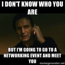 Image result for networking meme