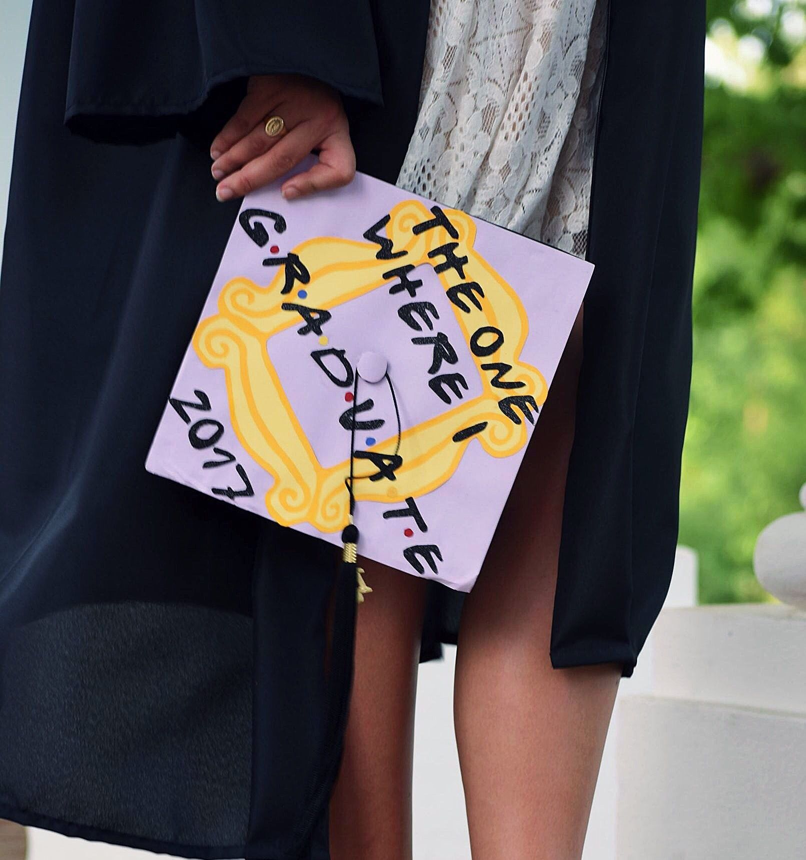 Friends themed graduation cap | Graduation cap, Friend ...