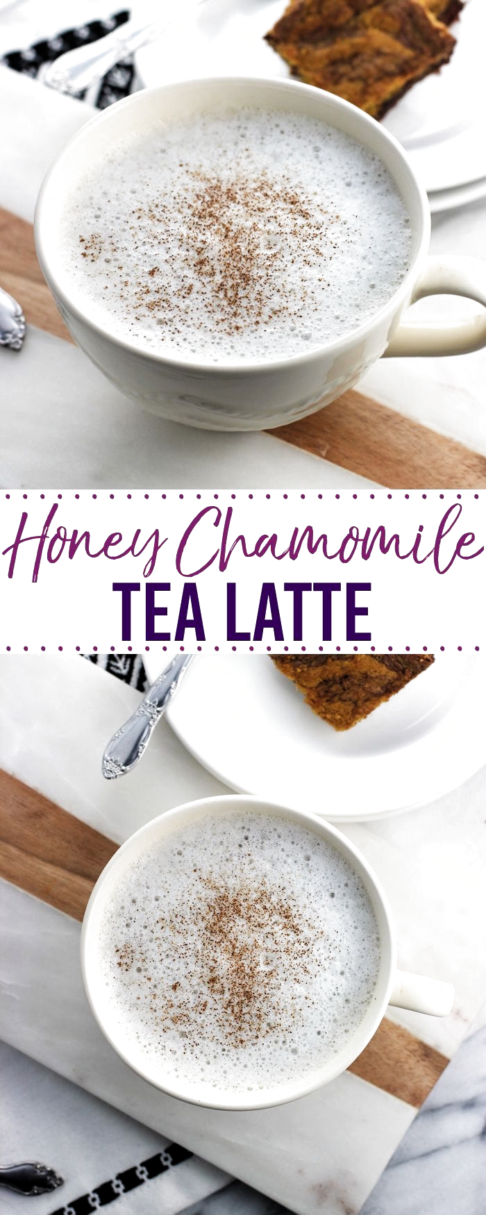 This Easy Honey Chamomile Tea Latte Is A Soothing And Warm Drink Sweetened With Just A Touch Of Honey So Much In 2020 Chamomile Tea Recipe Tea Latte Tea Latte Recipe